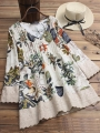 vintage-floral-print-patchwork-3-4-sleeve-v-neck-blouses-for-women