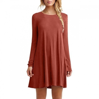 autumn-winter-pleated-casual-dress