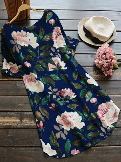 short-sleeve-floral-printed-plus-size-blouses