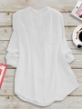 casual-paneled-stand-collar-linen-plus-size-blouse