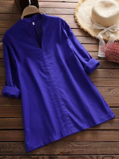 casual-long-sleeve-v-neck-pullover-women-blouse