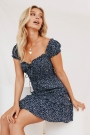 new-perspective-frill-mini-dress-navy
