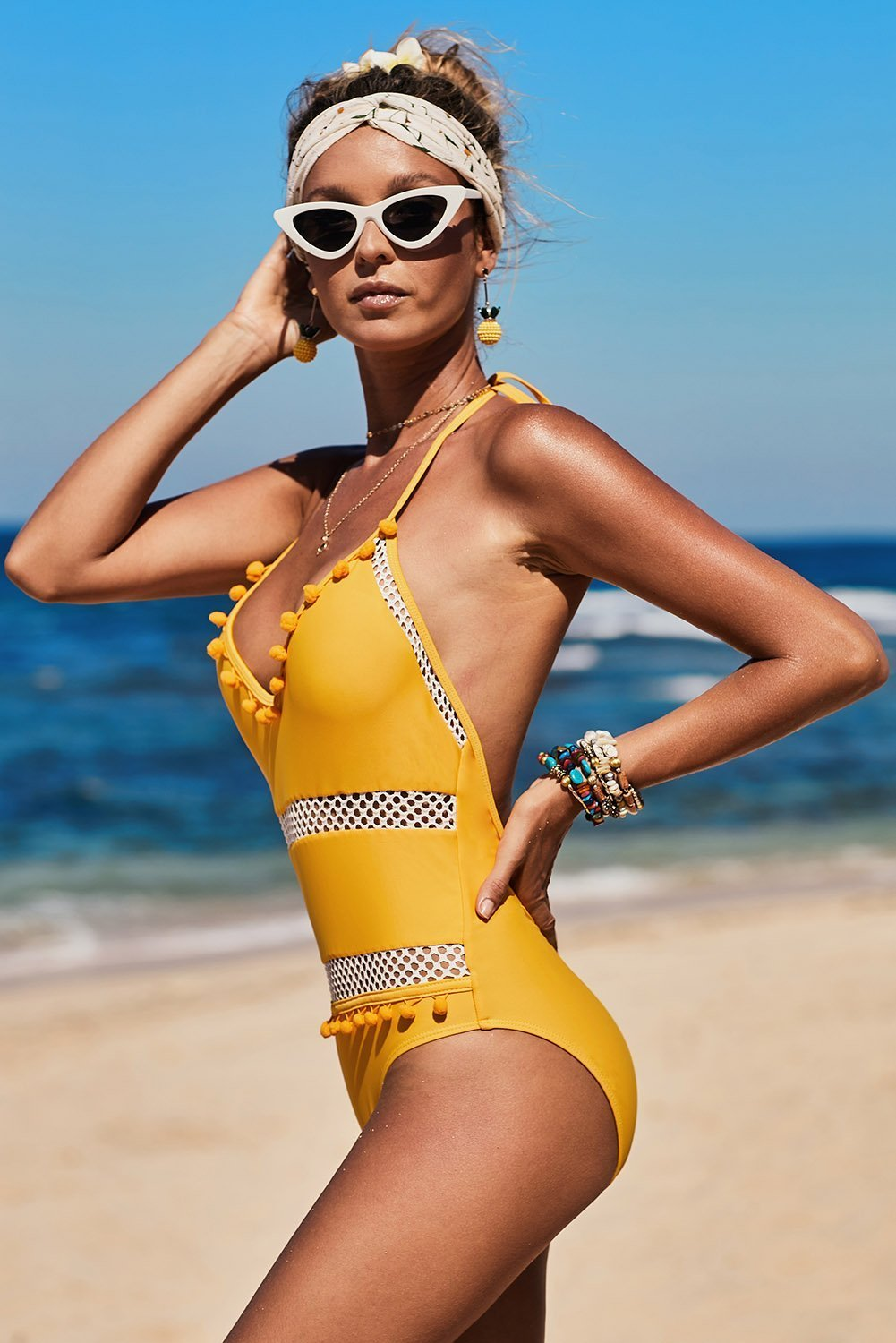 Yellow Ember One Piece Swimwear choichic.com