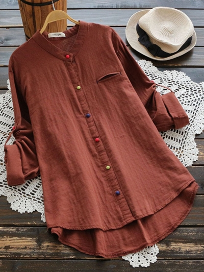 colorful-buttoned-long-sleeve-blouse