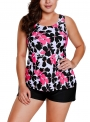 floral-print-tankini-and-short-swimsuit