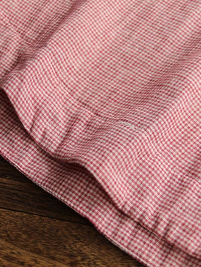 3-4-sleeve-plaid-loose-casual-blouse-for-women