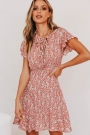 collective-timeline-tie-front-mini-dress-red