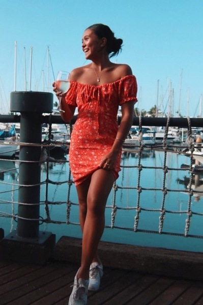 back-in-france-tie-front-mini-dress-red