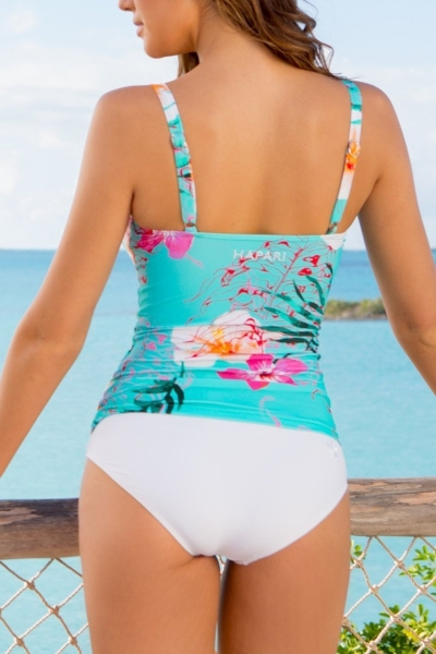 slimming-floral-top-and-solid-bottom-tankini-set